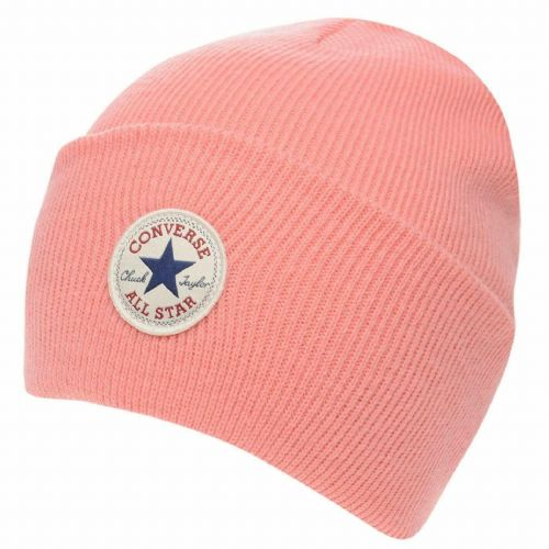 CONVERSE WOMENS BEANIE HAT.NEW CHUCK TAYLOR PINK WARM WOOLLY KNITTED CAP CON588
